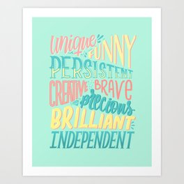 Kind words only Art Print