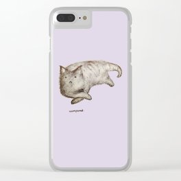 Unimpressed Cat Clear iPhone Case
