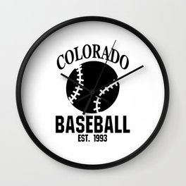 Colorado Baseball Gift USA Gift Idea Wall Clock