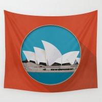 sydney Wall Tapestries featuring Sydney by Matthias Hennig