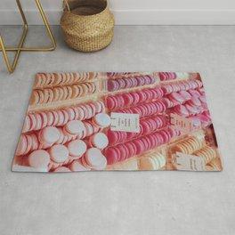 Macarons pink palette Rug