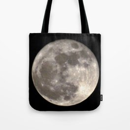 Can you see the man in the Moon smiling at us? Tote Bag