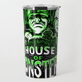 House of Monsters Phantom Frankenstein Dracula classic horror Travel Mug