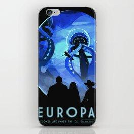 Europa Space Travel Retro Art iPhone Skin