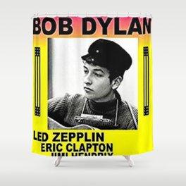 Vintage 1966 Centrum, Worcester, Massachusetts Bob Dylan Concert Billboard Poster Shower Curtain
