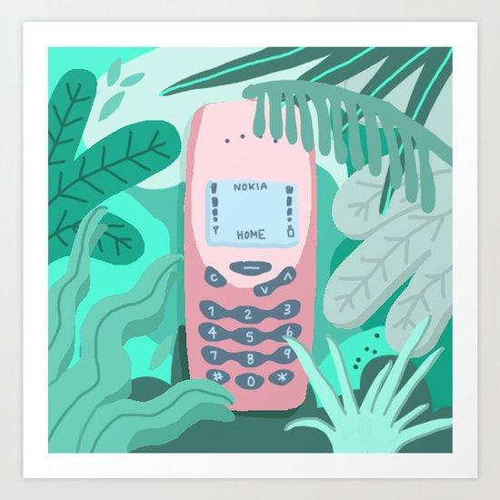 Jungle Nokia  Art Print