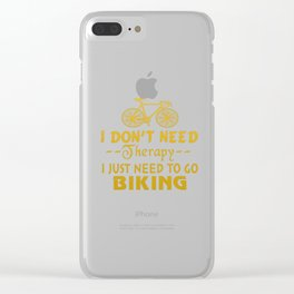 GO BIKING Clear iPhone Case