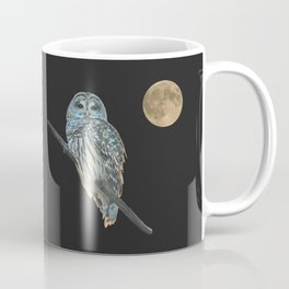 Owl, See the Moon (sq Barred Owl) Coffee Mug