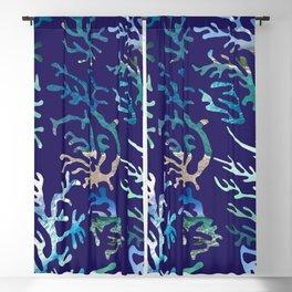 underwater blue corals Blackout Curtain