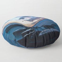 Tardis On The Sea Stone Floor Pillow
