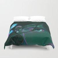 little mermaid Duvet Covers featuring Little Mermaid by David Lanham