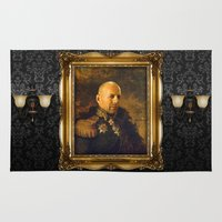 replaceface Area & Throw Rugs featuring Bruce Willis - replaceface by replaceface
