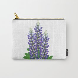 Blue and white lupine flowers Carry-All Pouch