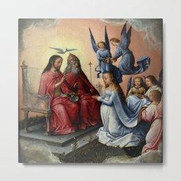 Michel sittow - Coronation of the Virgin Metal Print