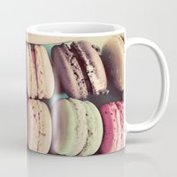 macarons Mugs featuring Macarons by elle moss