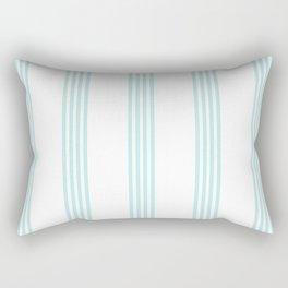Striped I - Turquoise stripes on white- Beautiful summer pattern Rectangular Pillow