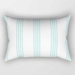 Striped I - Turquoise stripes on white - Beautiful summer pattern Rectangular Pillow