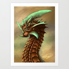 Copper Dragon  Art Print