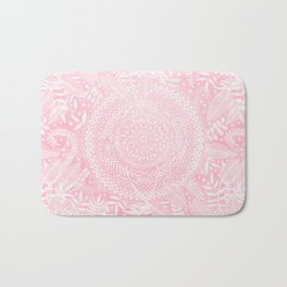 Medallion Pattern in Blush Pink Bath Mat