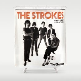 THE STROKES IYENG 10 Shower Curtain