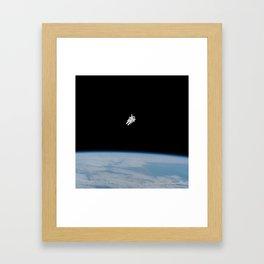 Incredible NASA Astronaut In Space Framed Art Print