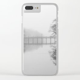 Spring Lake Bridge in the Fog Clear iPhone Case