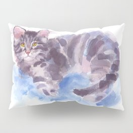 Azure Purr Pillow Sham