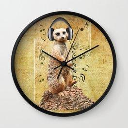 Jammin' Meerkat Wall Clock