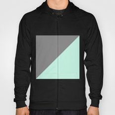 Grey and Mint Half Triangle Hoody