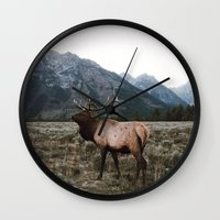 elk Wall Clocks featuring Elk by jmeshe