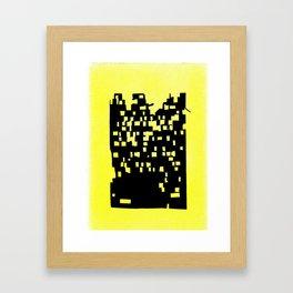 Bombed Building Framed Art Print