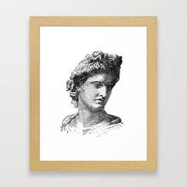 Portrait of Apollo Belvedere Framed Art Print