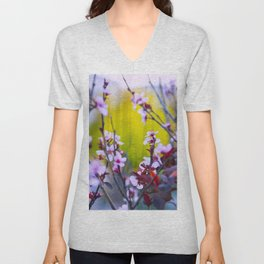 """""""The Mind Replays What the Heart Can't Delete"""" Unisex V-Neck"""