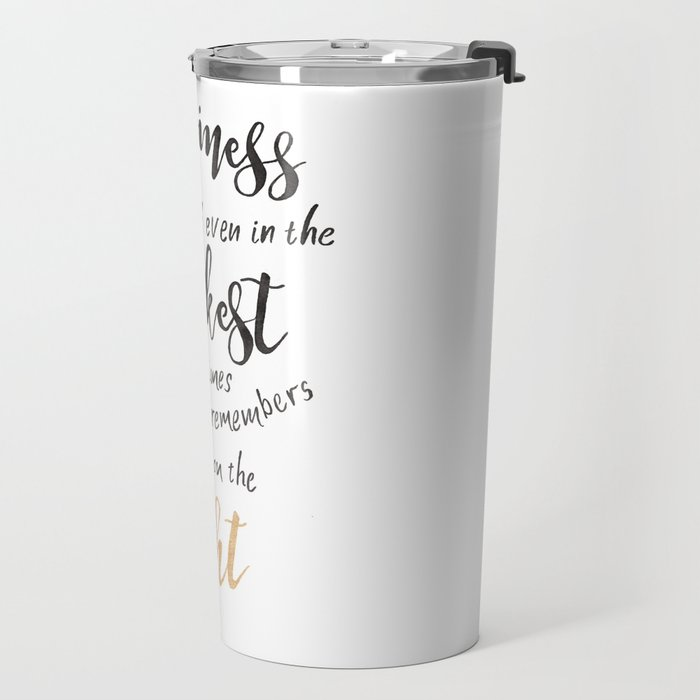 Dumbledore Quote | Happiness can be found... | Watercolor Travel Mug