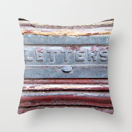 Letter Slot Throw Pillow