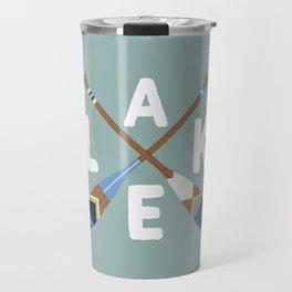 LAKE LIFE Painted Paddle Oars Travel Mug