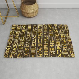 Gilded Hieroglyphs Rug
