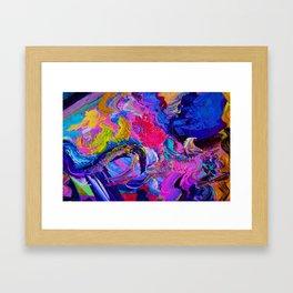 Abstract Viscosity Framed Art Print