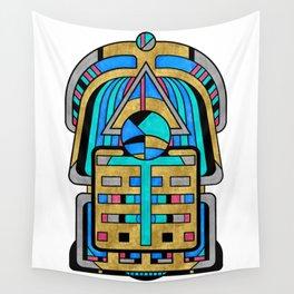 Scarabesque - Digital Art Deco Design Wall Tapestry