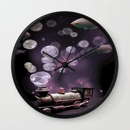 Tren Burbuja Wall Clock