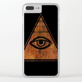 The All Seeing Eye Symbol Clear iPhone Case