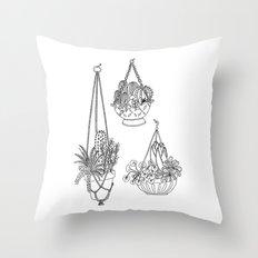macramé plant hanger.  Throw Pillow