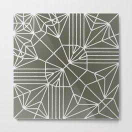 Bunny god origami Metal Print