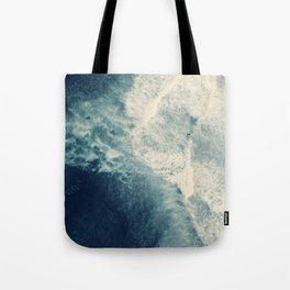 Ice Blue Surf Tote Bag