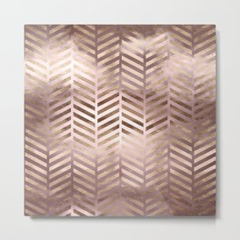 Champagne Rosegold Abstract Pattern Metal Print