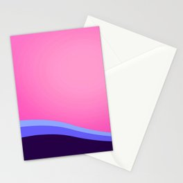 Omnisexual Pride Minimalist Curved Layers Design Stationery Cards