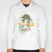 airplanes Hoodies featuring War girl by Ariana Perez