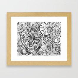 octupi heart Framed Art Print