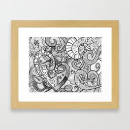 octupi heart Framed Art Print