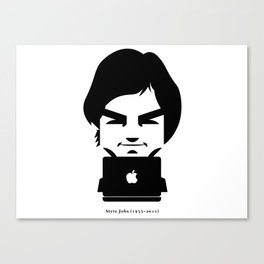 Steve Jobs (1955-2011) Canvas Print